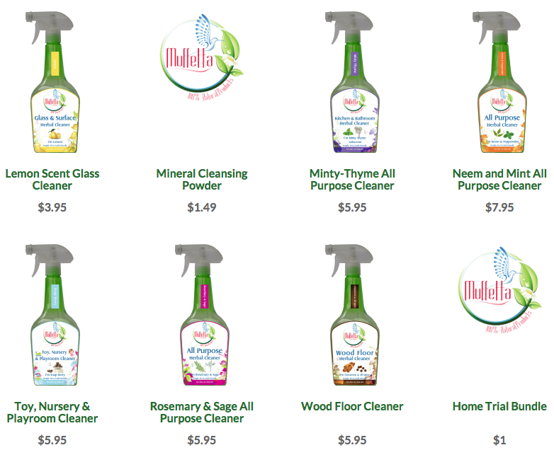 Muffetta Naturals Green Cleaning Products